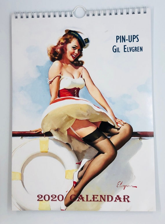 Calendrier Pin Up.Gil Elvgren Wall Calendar 2020 Pin Up Girl Retro Vintage A4 8 X11