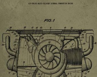 Engine blueprint etsy porsche engine patent print porsche engine blueprint combustion engine classic car wall art sports car poster bedroom wall art digital malvernweather Gallery