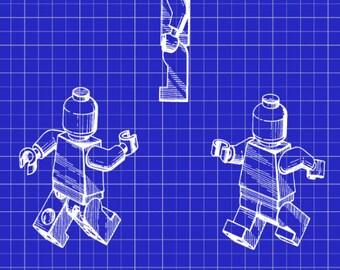 Vintage 1950s robot patent art print home decor art vintage original lego toy patent art print home decor art poster lego toy blueprint malvernweather Choice Image