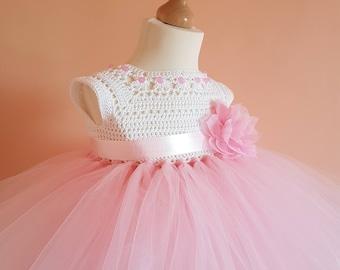 crochet tutu dress pattern, tutu dress pattern, crochet yoke dress pattern (sizes 6-9 months to 4 years old), baby crochet dress pattern