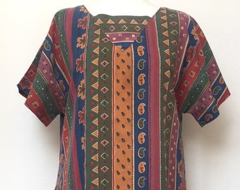 70s vintage traditional smock tunic size M