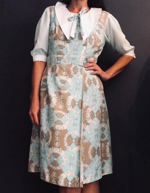 Sixties cotton Carnegie dress