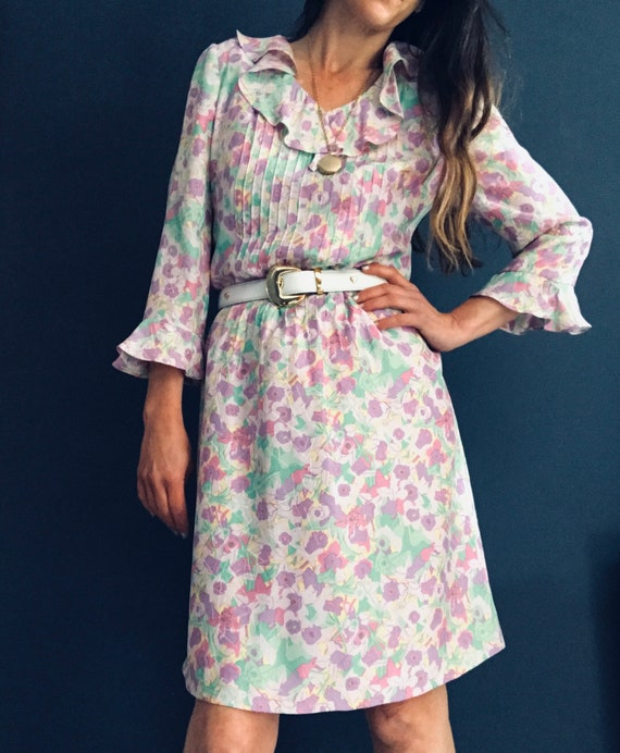 Sixties Ditsy Geo Floral Dress