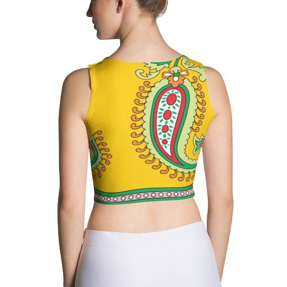 Indian Saree Top Saree Blouse Yoga Crop Top Vibrant
