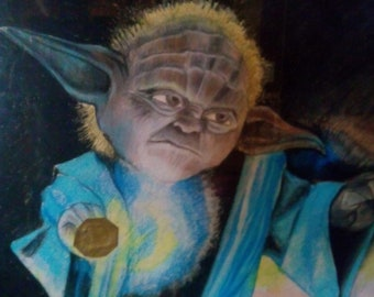 picture painted with pastels for fans of STAR WARS.