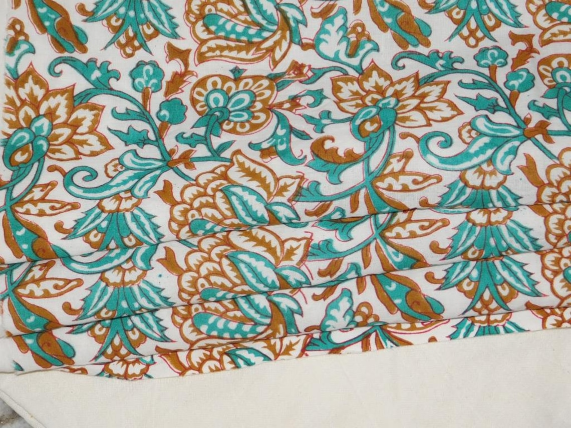 10 Yard 100% Pure Indian Handmade Block Cotton Fabric Garment