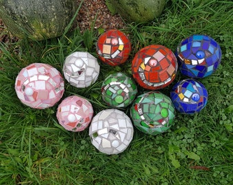 Mosaic ball, Rose ball, Frost, winter hard, garden, garden, floats, sphere, decorative