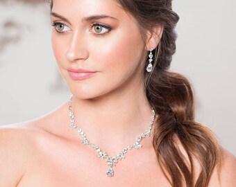 Beau Bridals | Bridal Necklace Set | Bridal Jewellery Set | Necklace Set | Necklace | Earrings | Jewellery Set | Bridal Jewelry |