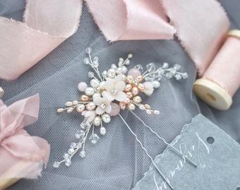 Bridal Wreath Silver Hair Vine Flower Headband Flower Wreath