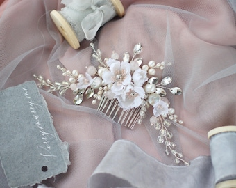 Diy video tutorial hair comb with silk flowers tutorial hair wedding hair comb silk flower comb flower pin for wedding floral haedpiece hair accessories wedding hair accessory bridal flower comb mightylinksfo