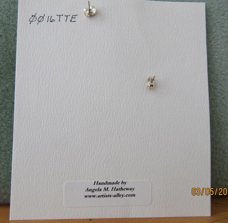 Multi-Blue Tone Glass Bead Hoop Stud Earrings \u2013 Jewelry \u2013 WireWork