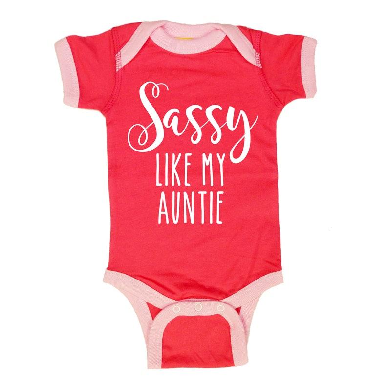 Sassy Like My Auntie Baby Bodysuit