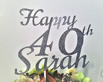 Personalized Birthday Cake Topper Happy 40th Party Decorations Women And Men