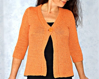 61e5dc5bd0 Cropped Burnt Orange Sweater Top Size S ~ Vintage 1990s