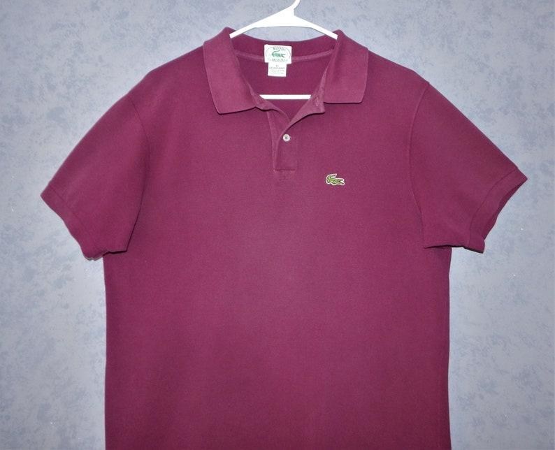 3de18cfd9 Izod Lacoste Purple Grand Patron Polo Shirt Vintage 1970s