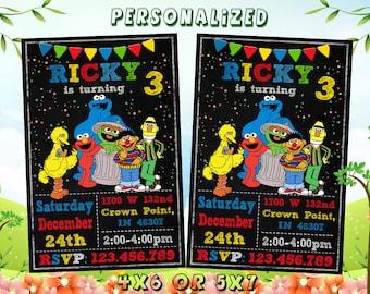 Elmo Invitation Birthday Printable Card Invites