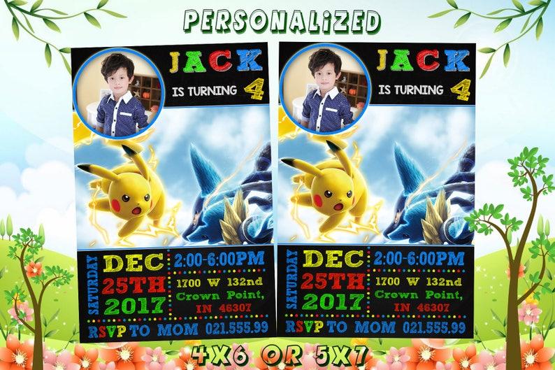 Pokemon Invitation Birthday