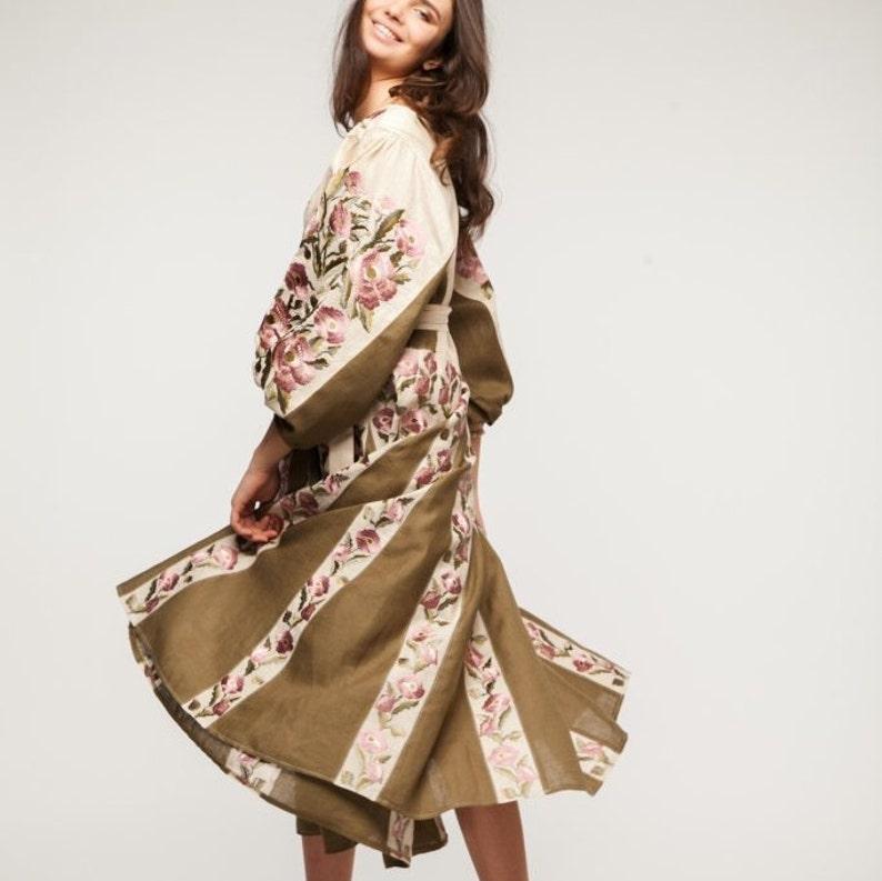 Unique Wedding Dresses Au: Unique Boho Wedding Guest Dress With Ukrainian Embroidery