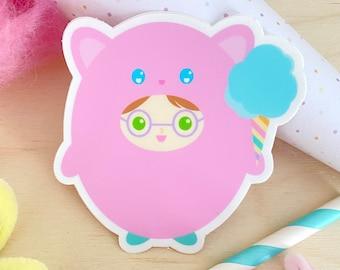 Jilly Kitty Sticker - Gingerbread Charms - Kawaii Vinyl Sticker - Character Sticker - Kawaii illustration - Cute Kitty Cat Stickers