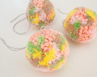 Sugarplum Pom Pom Ornament - Handmade Pom Poms - Gingerbread Charms - Pom Pom Ornaments - Pom Pom Decor - Cute Decor Ideas - Cute Ornaments