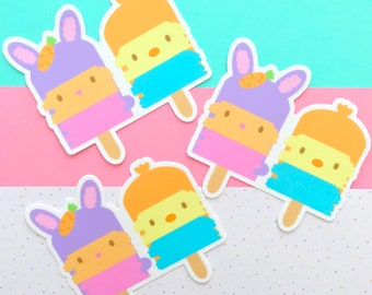 Mamma Bunny and Tutu Sticker - Gingerbread Charms - Kawaii Vinyl Die Cut Sticker - Cute Sticker - Kawaii Illustration - Character Sticker