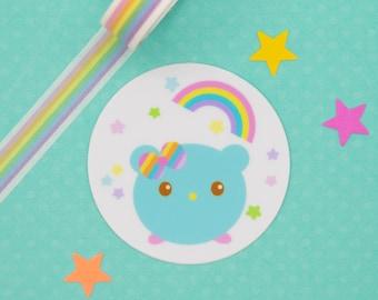 Twinkles Sticker - Kawaii Vinyl Sticker - Gingerbread Charms - Cute Bear - Kawaii Bear Sticker - Character Sticker - Cute Laptop Sticker