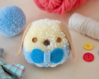 Bailey Pom Pom Plushie - Handmade Dog Plushie - Gingerbread Charms - Cute Dog Plushie - Gifts for Puppy Lovers - Cute Plushie - Puppy Plush