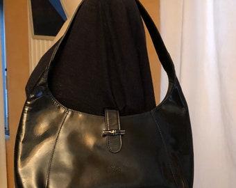 a258477423d0 Longchamp Black patent leather Longchamp bag leather satchel bag