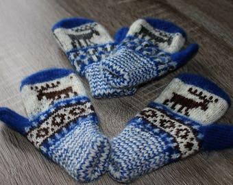 Fingerless baby mittens wool mittens for kids, gift idea