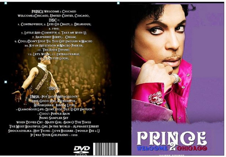 40ac35b66fd3 Prince Welcome 2 America 4 shows 4 Dvds Chicago Toronto