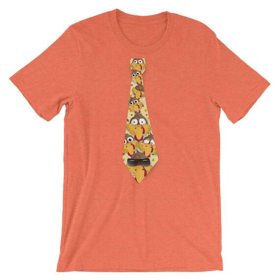 3466bb990a Funny Thanksgiving Emoji Turkey Faces Neck Tie T-Shirt | Etsy