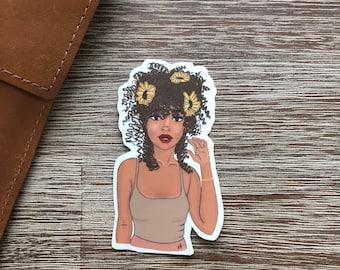 df1cbd039 The Pretty Lady Vinyl Sticker
