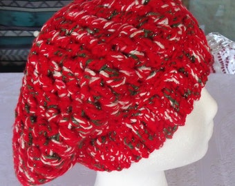 crochet slouchy beret for women