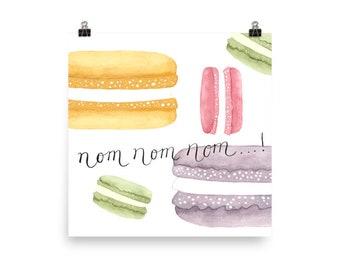 French Macarons Matte Art Print (No Frame)