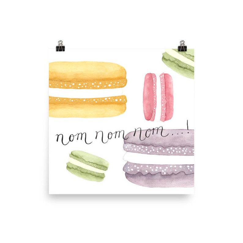 French Macarons Matte Art Print No Frame image 0