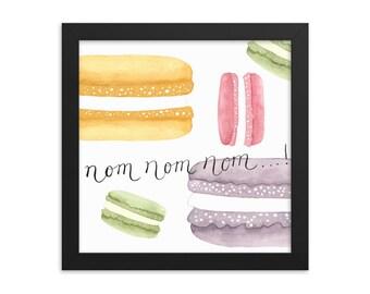 French Macarons Framed Matte Art Print