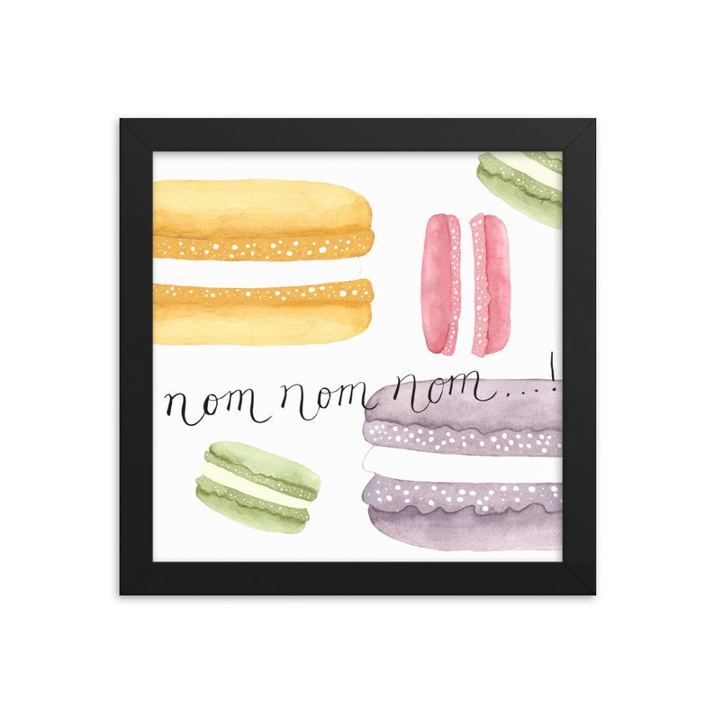 French Macarons Framed Matte Art Print image 0