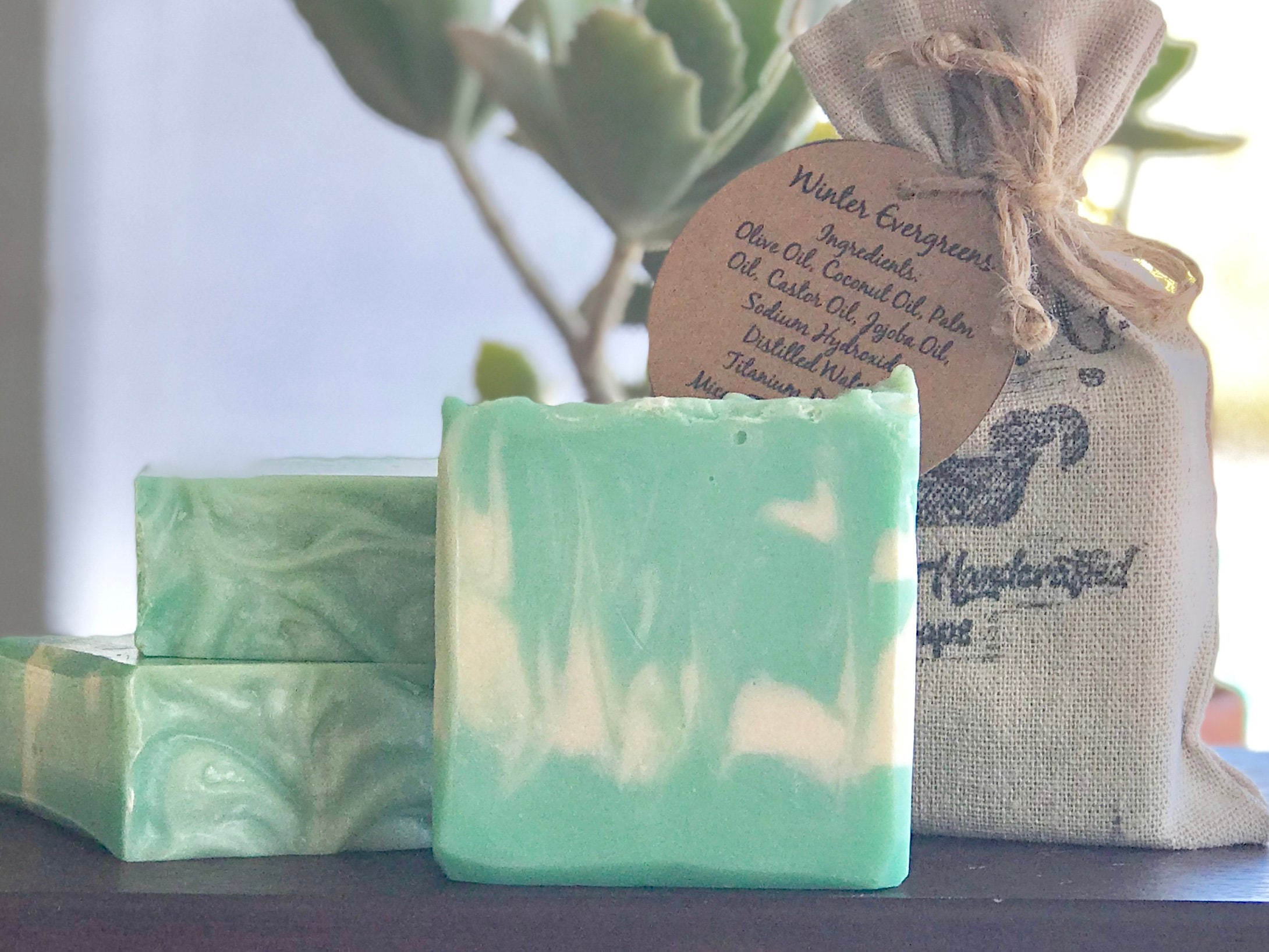 Winter Evergreens Homemade Handcrafted Soap Perfect Holiday Etsy
