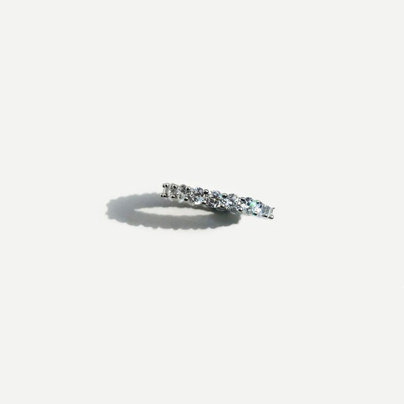 Details about  /Sterling Silver Polished CZ 3.5 MM Band MSRP $94