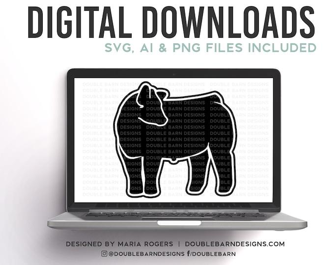 Turned Show Steer Digital Download
