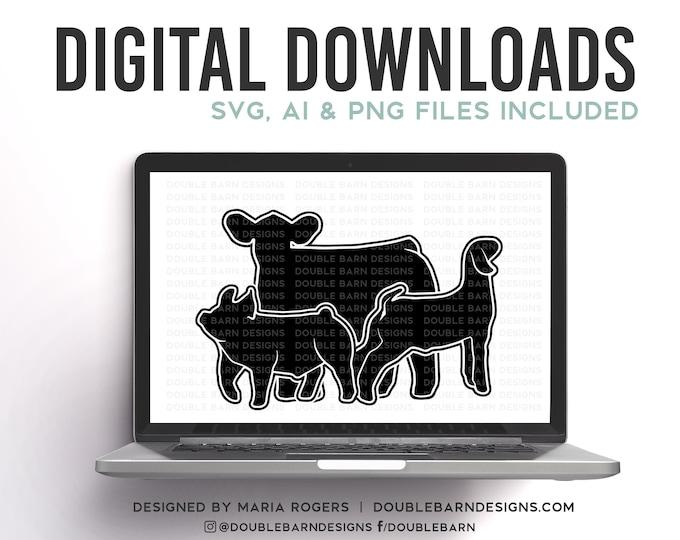 Steer Pig Goat Digital Download