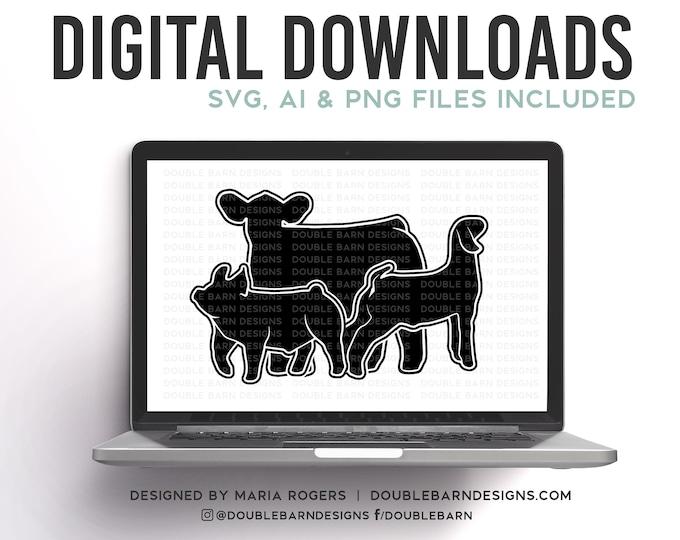 Pig Steer Goat Digital Download