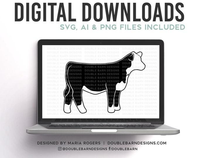 Mini Hereford Steer SVG Digital Download