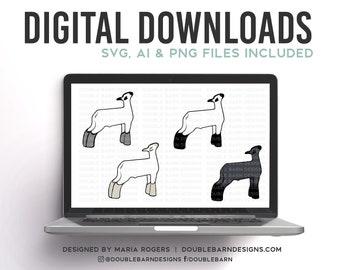 Show Lamb Breeds   Digital Downloads - SVG, PNG, Ai Files   Commercial License