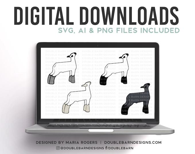 Show Lamb Breeds | Digital Downloads - SVG, PNG, Ai Files | Commercial License