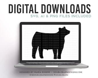 Market Steer Silhouette Digital Download