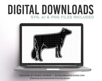 Brown Swiss Cow Digital Download