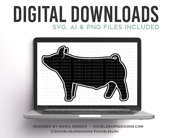 Backdrop Show Pig Digital Download - AI - PNG - SVG - Showpig Design
