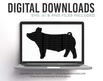 Market Pig Silhouette Digital Download
