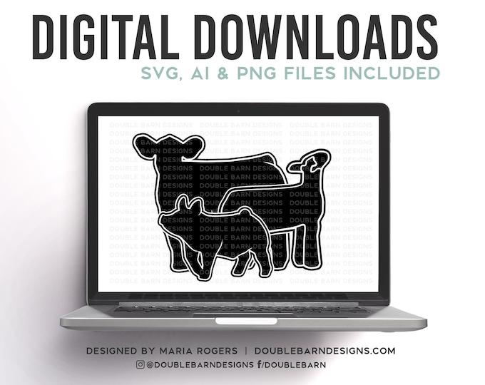 Steer Pig Lamb Digital Download